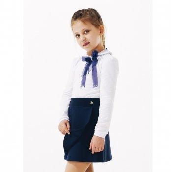 Блуза для девочки длинный рукав Smil 114647 белый