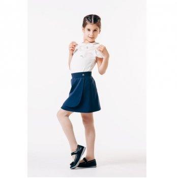 Блуза для девочки короткий рукав Smil 114648 белый