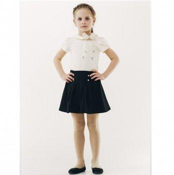 Блуза для девочки короткий рукав Smil 114648 молочный