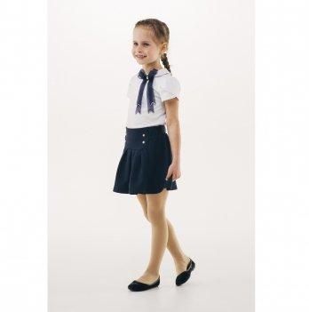 Блуза для девочки короткий рукав Smil 114649 белый