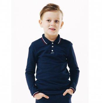 Футболка-поло для мальчика длинный рукав Smil 114656 темно-синий