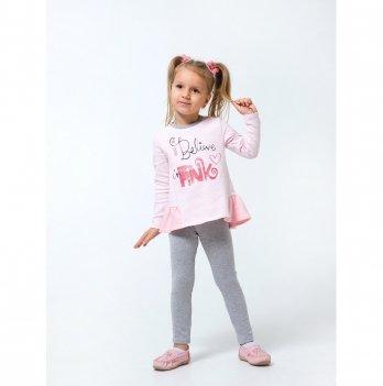 Туника для девочки Smil Только для девочек Розовый в полоску 114697