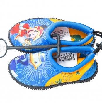 Аквашузы Disney Микки и веселые гонки (Mickey Roadster Racers), синие