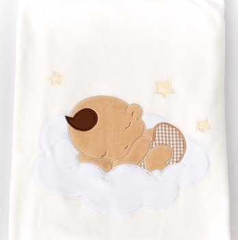 Пеленка-одеяло велюр ТМ Sasha, молочная