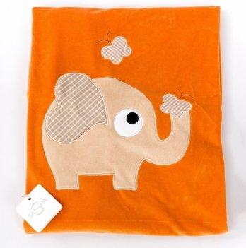 Пеленка-одеяло велюр ТМ Sasha, оранжевая