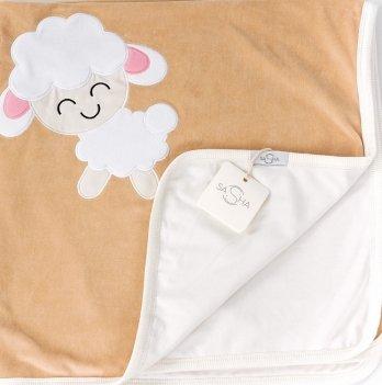 Пеленка-одеяло велюр ТМ Sasha, бежевая