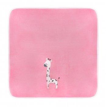 Плед для новорожденного Sasha Жираф Розовый 80*90 см 115/19