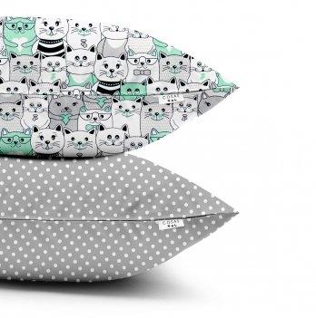 Детские наволочки Cosas Cats Gray Dots Grey Бязь 40х60 см