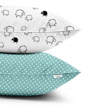 Детские наволочки Cosas Sheep Dots Mint Бязь 40х60 см
