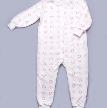 Пижама-комбинезон интерлок Модный карапуз My little star 03-00687 розовый