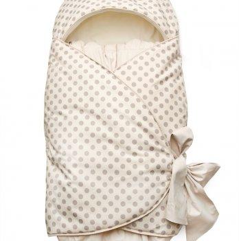 Конверт на выписку для новорожденных Модный карапуз, бежевый горох 03-00643