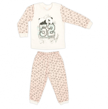 Пижама Garden baby для девочки «Панда», розовая панда