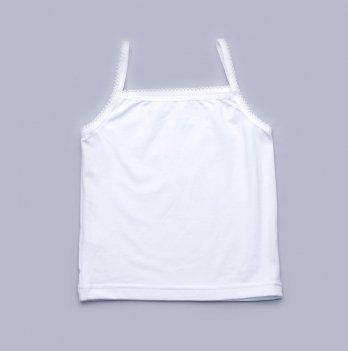 Майка для девочки Модный карапуз, белая