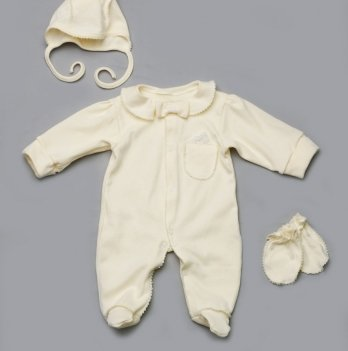 Комплект на выписку для новорожденных Модный карапуз, молочный 03-00628