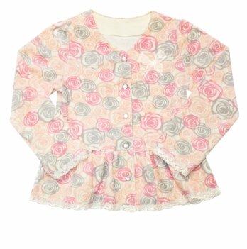 Пиджак для девочки SMIL, возраст от 6 до 18 месяцев, нежно-розовый с рисунком