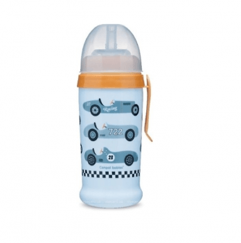 Поильник с силиконовой насадкой Canpol babies Racing, светло-синий