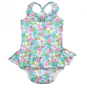 Купальник детский I Play, Light Aqua Paradise Flower 712159-6300