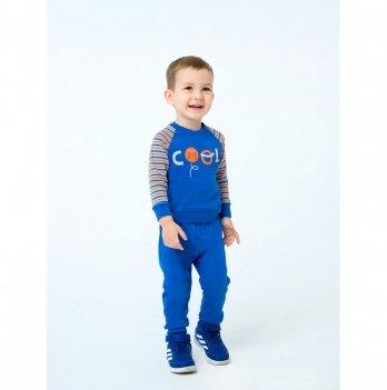 Свитшот для мальчика Smil Активный малыш Оранжевая полоска 116391