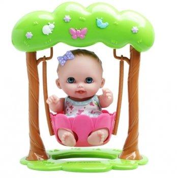 Пупс Лили на качелях JC Toys, 22 см