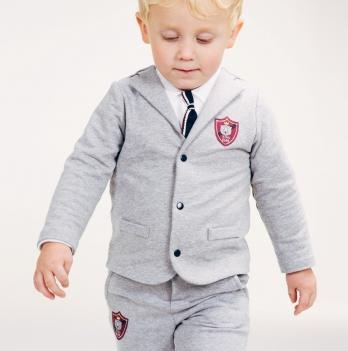 Пиджак для мальчика SMIL от 12 до 18 месяцев 116400 серый меланж