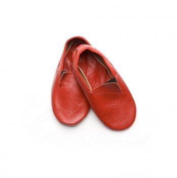 Чешки кожаные детские Модный карапуз, красные 06-00012