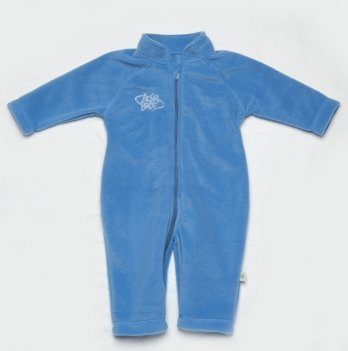 Комбинезон флисовый Модный карапуз, голубой 02-00435