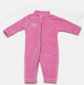 Комбинезон флисовый Модный карапуз, розовый 02-00435