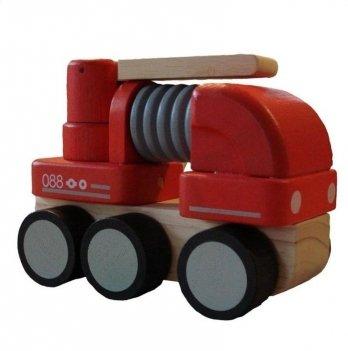 Деревянная машинка PlanToys® Мини пожарная машина