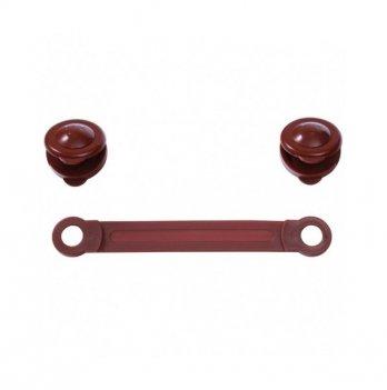 Универсальное защитное устройство для шкафов BabyOno, коричневое, 2 шт.