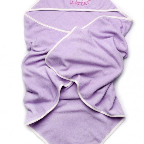 Детское полотенце с капюшоном махровое для купания Модный карапуз, сиреневое 03-00582
