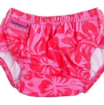Трусики для плавания Konfidence Aquanappies, розовые цветы OSSN04