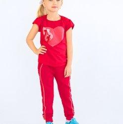 Брюки для девочки спортивные Модный карапуз, красные 03-00570