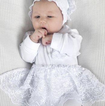 Набор на выписку из роддома для девочки Модный карапуз, белый 03-00627