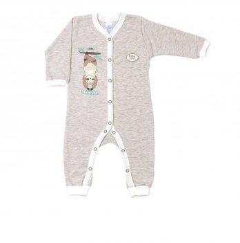Человечек для малышей Veres Sloth yoga Молочный Унисекс 101-3.88