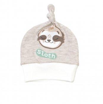 Шапочка-узелок Veres Sloth yoga Молочный Унисекс 106-2.88