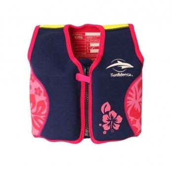 Плавательный жилет Konfidence Original Jacket, Navy/Pink/Hibiscus KJ05-B