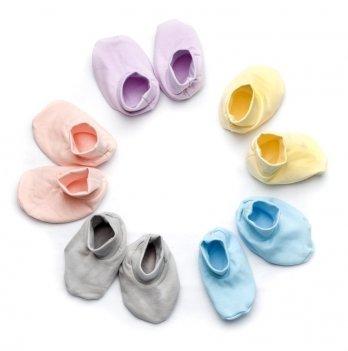 Пинетки утепленные для малышей Модный карапуз интерлок 301-00004 фиолетовые