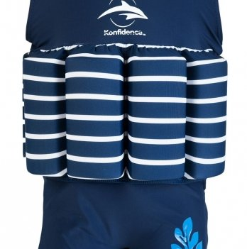 Купальник-поплавок Konfidence Floatsuits, синий в полоску FS01