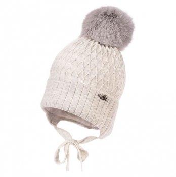 Зимняя шапка для девочки Jamiks Debi III, помпоном Кролик, серая