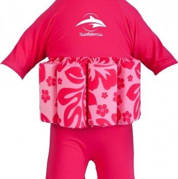 Купальник-поплавок Konfidence Floatsuits, гибискус/ розовый FS05-B