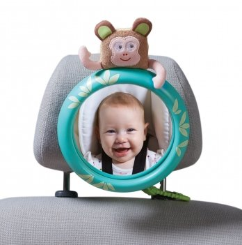 Обзорное зеркало в автомобиль для родительского контроля за ребенком Taf Toys, Тропики