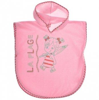Полотенце-пончо, розовое, SMIL