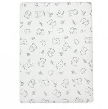 Пеленка для новорожденного Коллекция 2019 SMIL 119794 белый 90х80 см