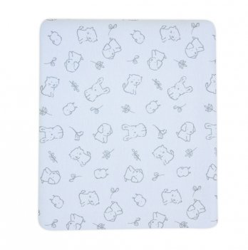 Пеленка для новорожденного Коллекция 2019 SMIL 119794 голубой 90х80 см