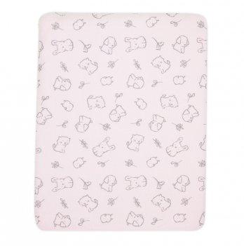 Пеленка для новорожденного Коллекция 2019 SMIL 119794 розовый 90х80 см