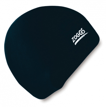 Шапочка для плаванья Zoggs Junior Silicone Cap, черная