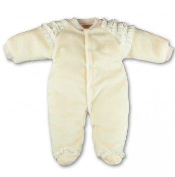 Человечек теплый PaMaYa 12-17 молочный