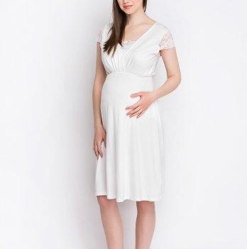 Ночная рубашка для беременных и кормящих мам Creative Mama Blanco