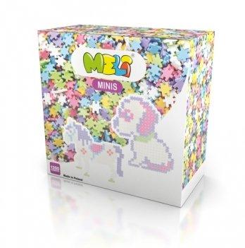 Развивающий 3D конструктор Meli Minis Пастель 1200 элементов