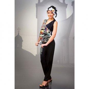 Комбинезон для беременных Dianora черный с цветами 1201 0772